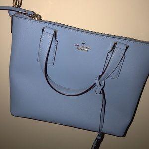 Blue late spade purse